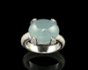 Aquamarine and cubic zirconia ring