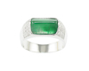 Jadeite (type-A) and diamond ring