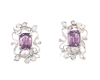 Amethyst and cubic zirconia earrings