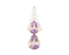Ametrine and diamond pendant