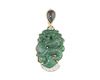 Jadeite (type-A) carving, opal and diamond pendant