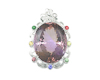 Ametrine, mixed gem stones and diamond pendant