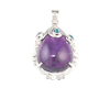 Amethyst and zircon pendant