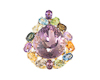 Ametrine and mixed gem stones pendant