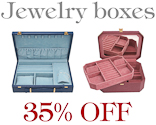 Jewelry boxes 35% off